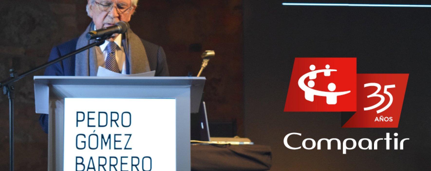 Pedro Gómez en celebración 35 años Fundación Compartir