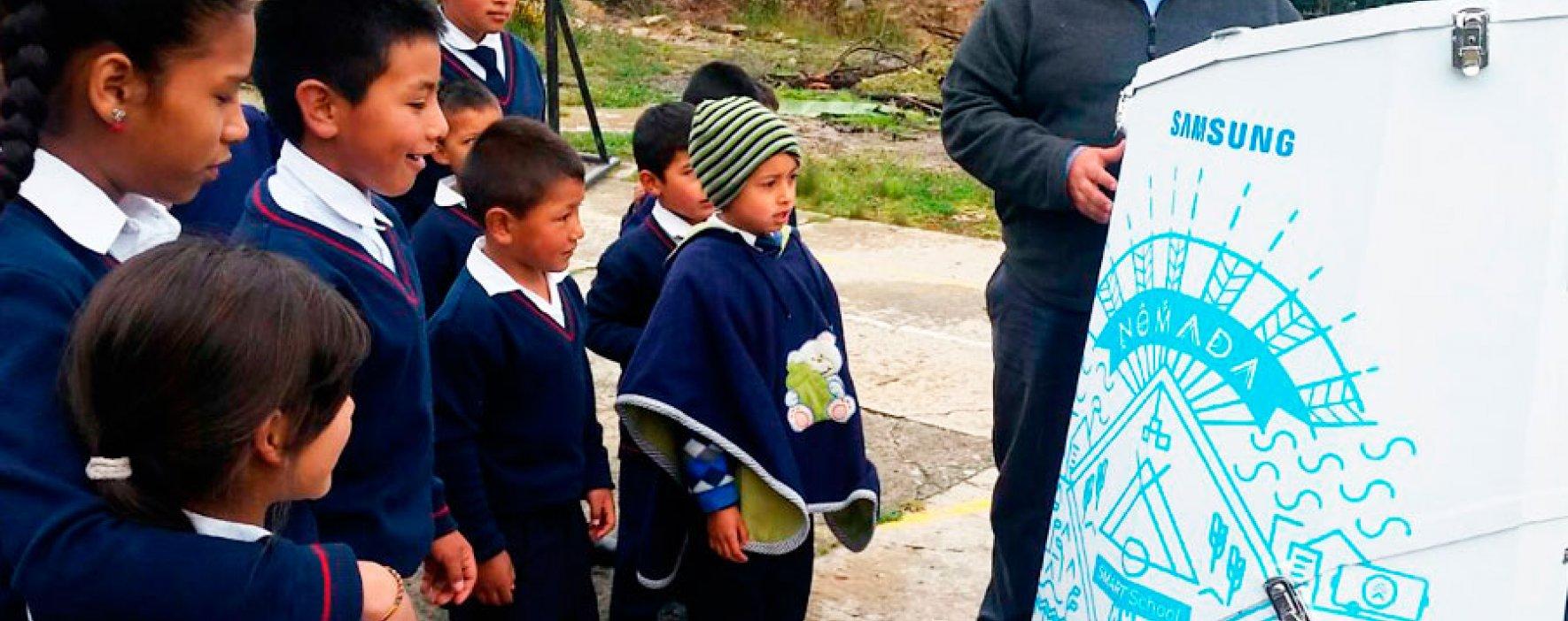 Cucunubá vivió el aula nómada de Samsung