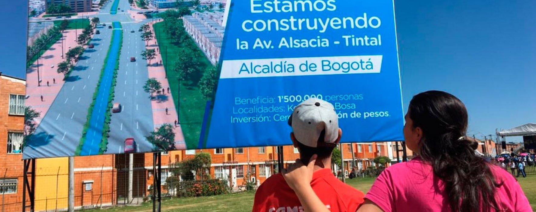 En Bogotá se adjudicó la construcción de la avenida Alsacia-Tintal