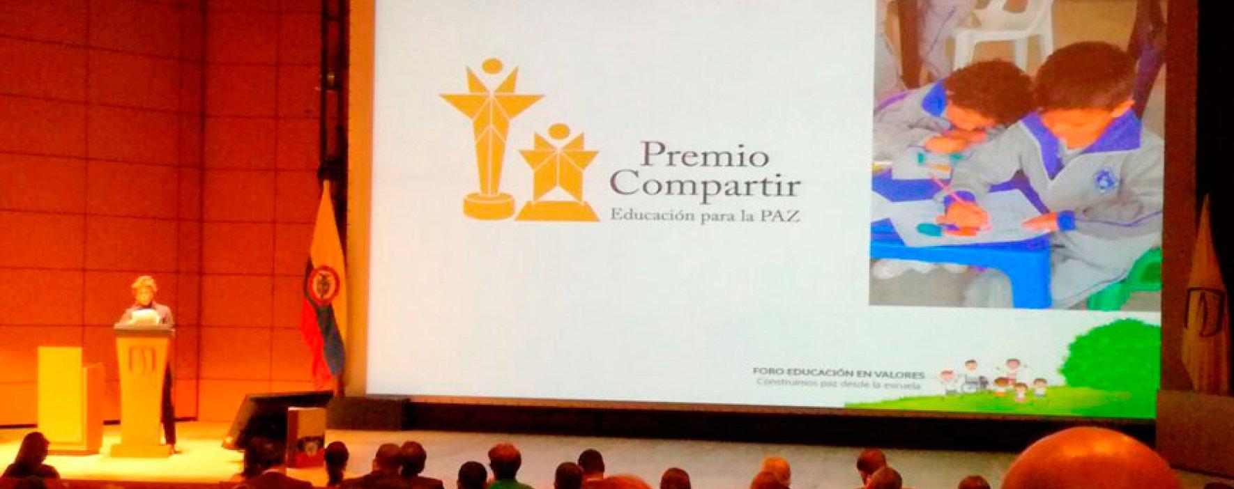 Lanzamiento Premio Compartir Educación para la Paz