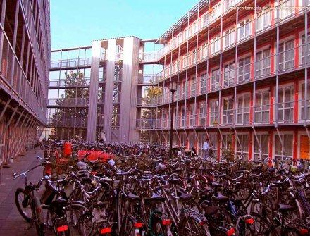 Campus para estudiantes hecho de contenedores