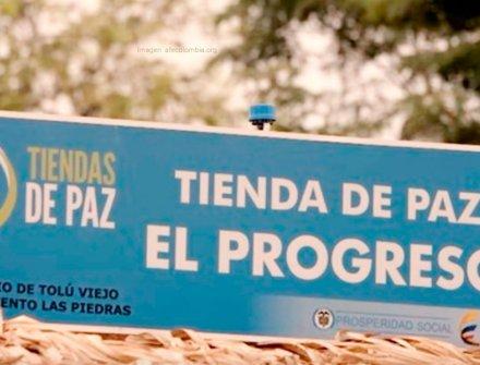 """Con apoyo de Bavaria instalan una """"tienda para la paz"""" en Chaparral, Tolima"""