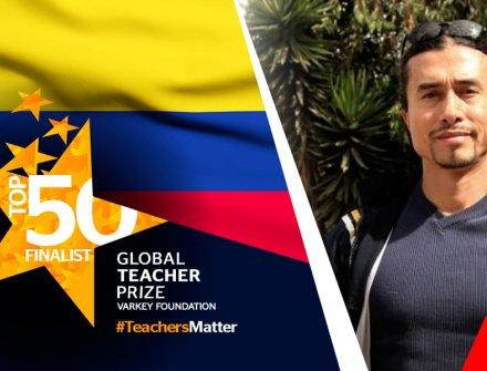 Maestro colombiano entre los 50 finalistas de Global Teacher Prize