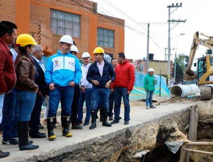 MinVivienda inicia obra que mejorará el alcantarillado de Madrid, Cundinamarca