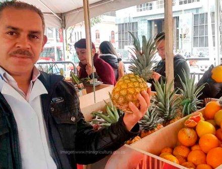 Productores lograron ventas por más de $18 millones en mercado campesino de Bogotá