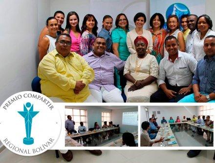Rectores y maestros homenajeados en la Regional Bolívar del Premio Compartir.