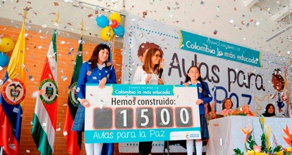 39 aulas entregadas a la Institución Educativa Colegio Nacionalizado La Presentación de Duitama