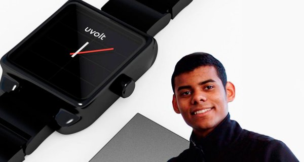 Colombiano crea reloj que se carga con el sol