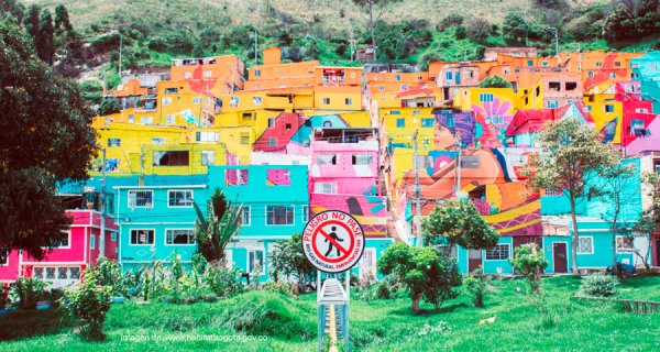 El mural más grande de Bogotá se encuentra en el barrio 'Los Puentes'