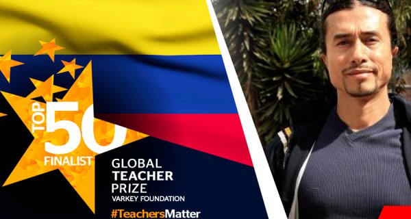 Maestro colombiano entre los 50 finalistas de Global Teacher Prize