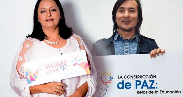 Maestro y rectora nominados al Premio Compartir 2016 en Foro de Paz