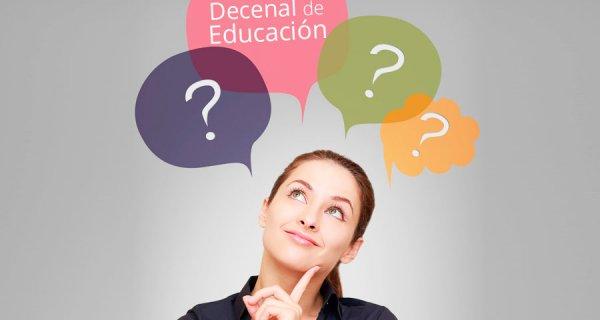 ¿Sabe en qué consiste el Plan Nacional Decenal de Educación?