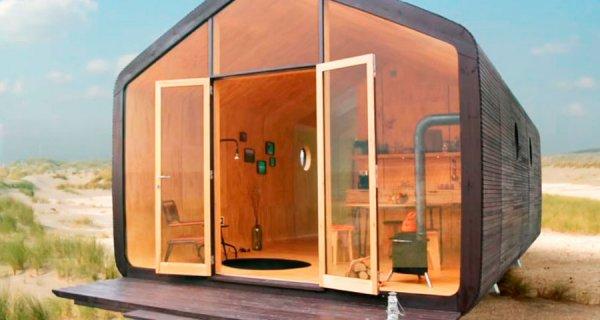 Una casa robusta hecha de cartón